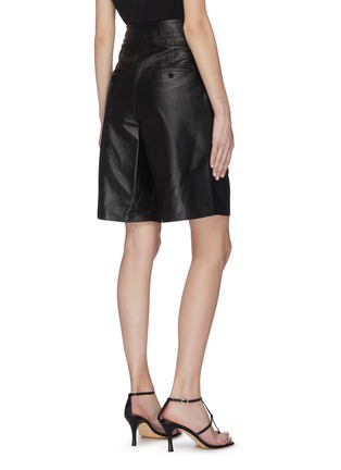 Back View - Click To Enlarge - 16ARLINGTON - 'Grant' nappa leather shorts