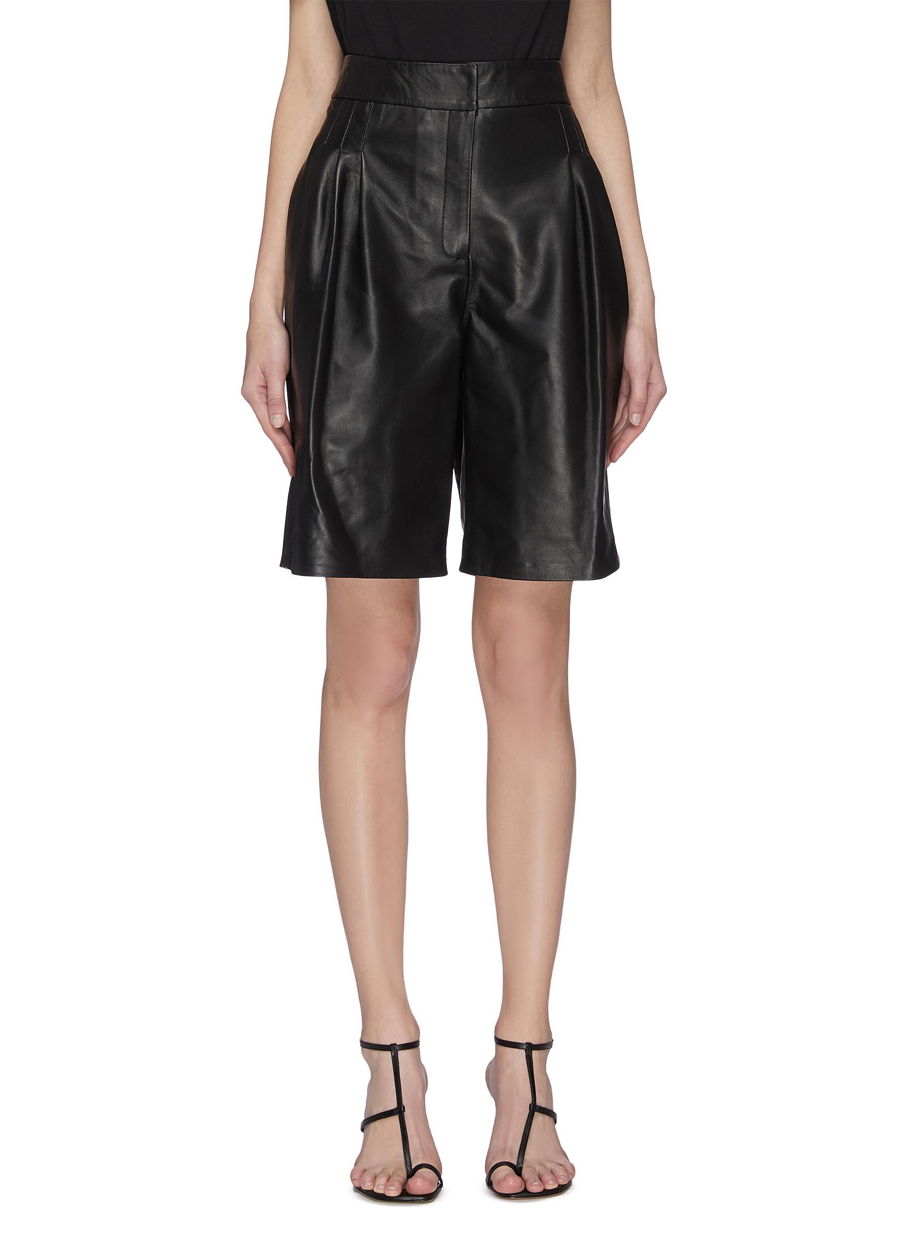 Buy 16Arlington Pants & Shorts 'Grant' nappa leather shorts