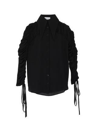 Main View - Click To Enlarge - 16ARLINGTON - 'Marlene' gathered sheer shirt