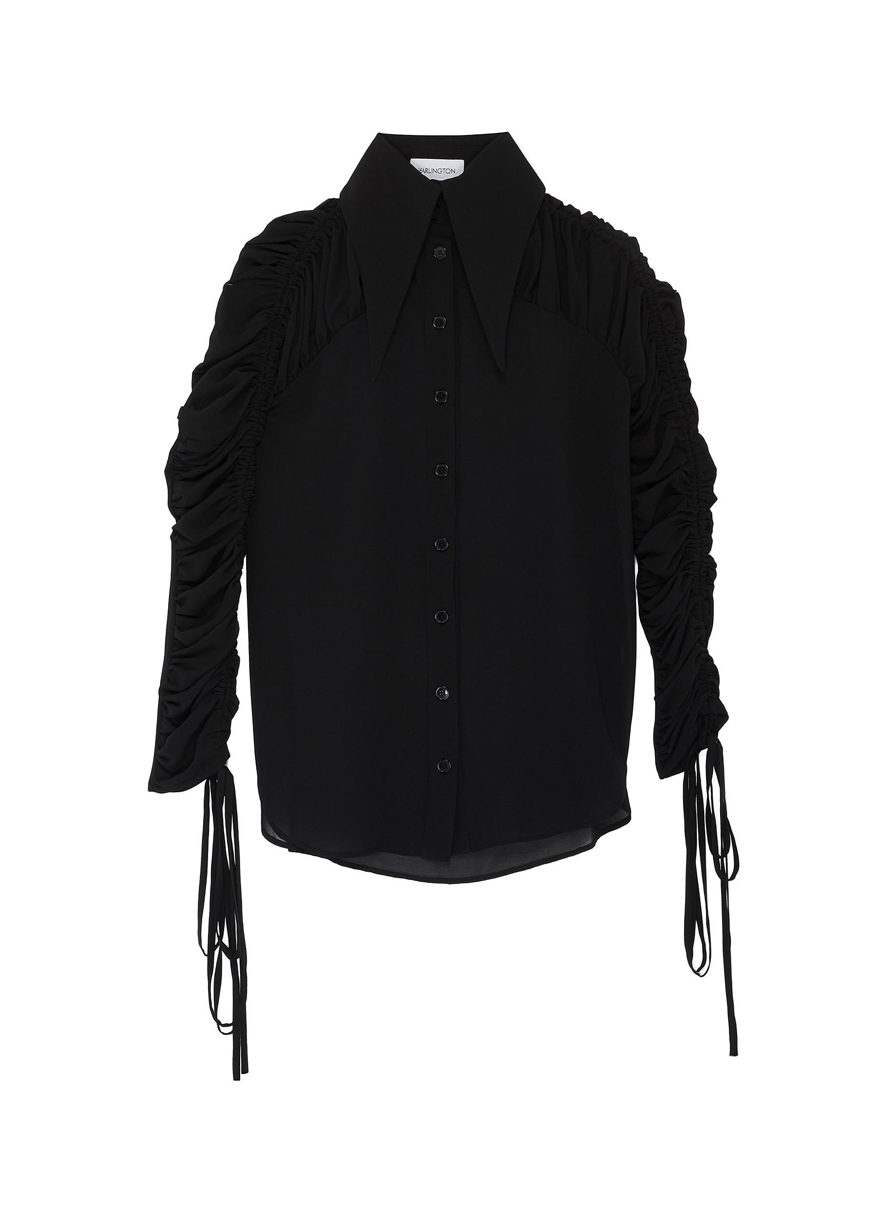 Buy 16Arlington Tops 'Marlene' gathered sheer shirt