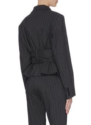 Back View - Click To Enlarge - 16ARLINGTON - 'Crawford' cropped pinstripe jacket