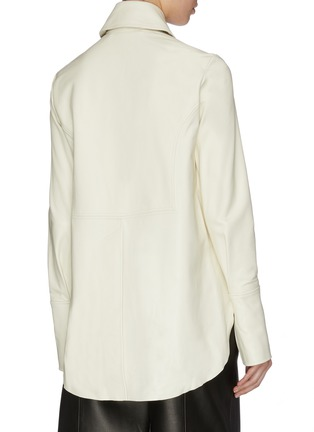 Back View - Click To Enlarge - 16ARLINGTON - 'Seymour' nappa leather shirt