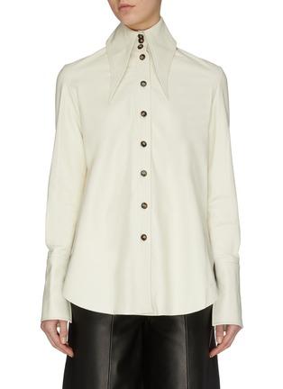 Main View - Click To Enlarge - 16ARLINGTON - 'Seymour' nappa leather shirt
