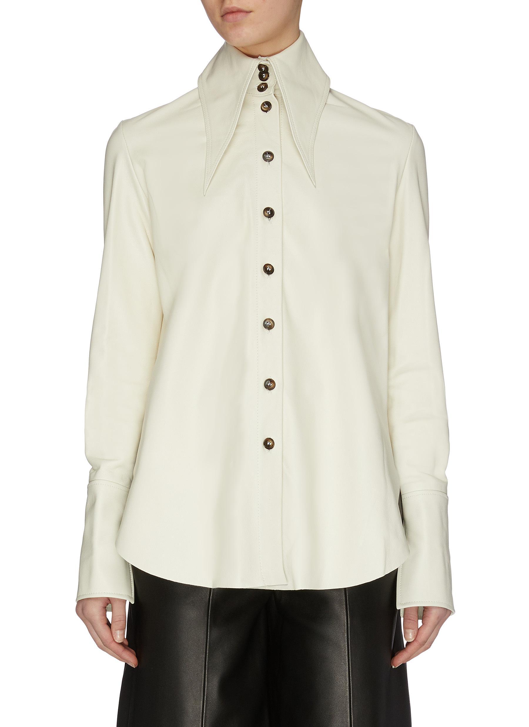 Buy 16Arlington Tops 'Seymour' nappa leather shirt