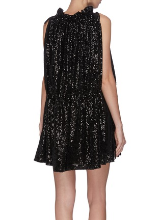 Back View - Click To Enlarge - 16ARLINGTON - Sequin ruched mini dress