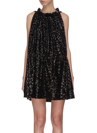 Main View - Click To Enlarge - 16ARLINGTON - Sequin ruched mini dress