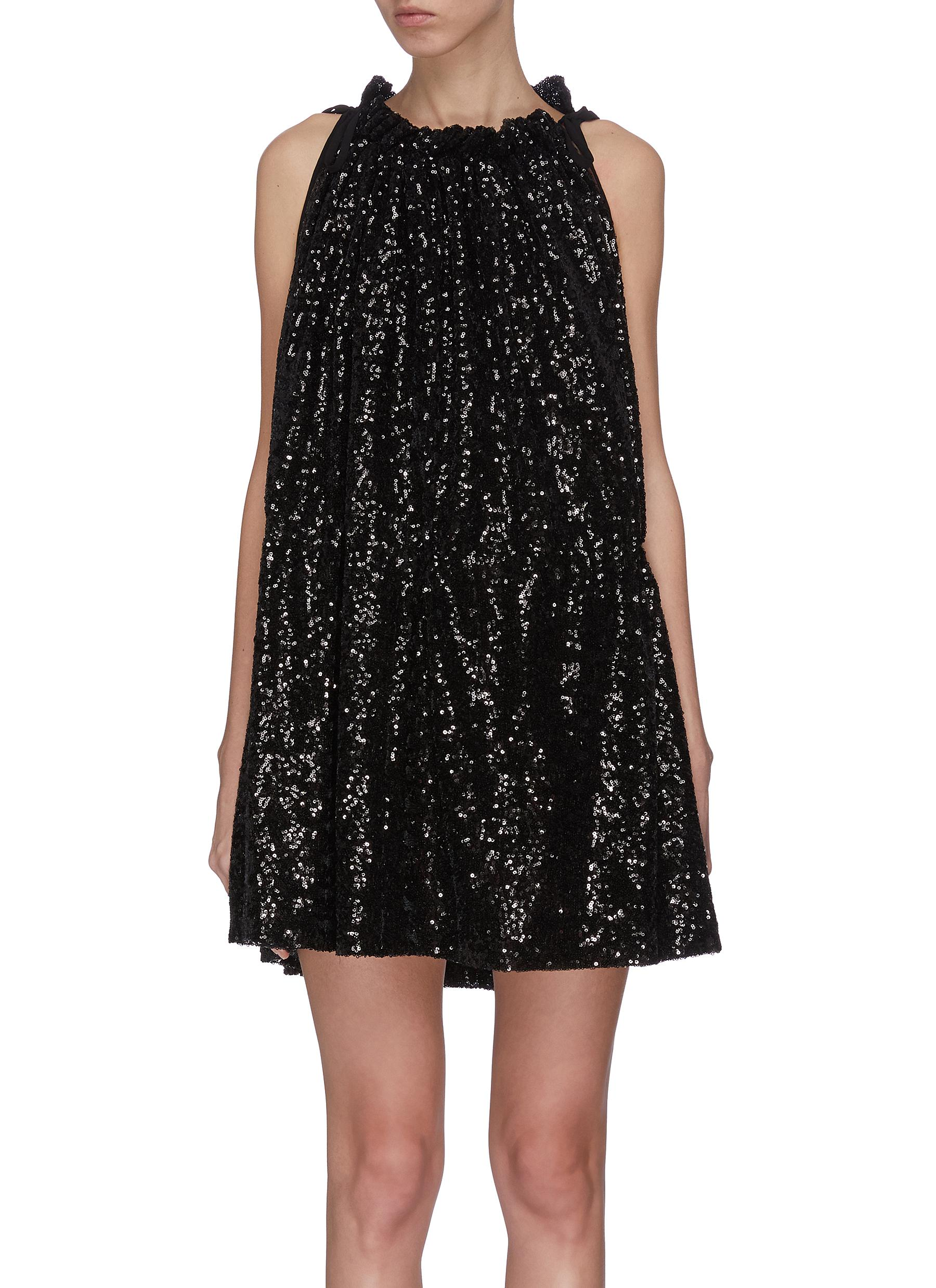 shop 16Arlington Sequin ruched mini dress online