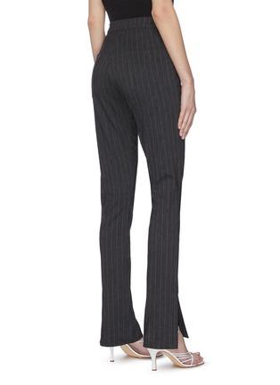 Back View - Click To Enlarge - 16ARLINGTON - 'Wallis' pinstripe slit jeans