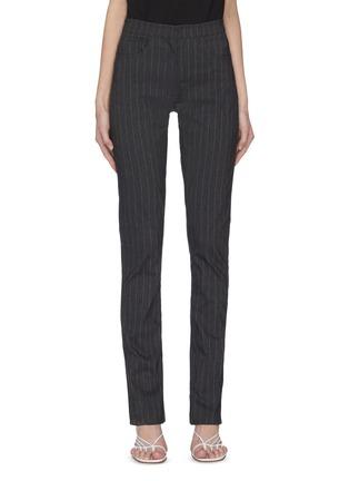 Main View - Click To Enlarge - 16ARLINGTON - 'Wallis' pinstripe slit jeans