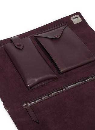 Detail View - Click To Enlarge - MÉTIER - 'Runaway I' buffalo leather envelope pouch