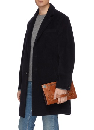 Figure View - Click To Enlarge - MÉTIER - 'Runaway I' buffalo leather envelope pouch