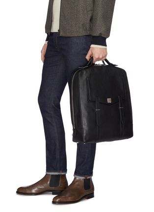 Figure View - Click To Enlarge - MÉTIER - 'Rider' buffalo leather backpack