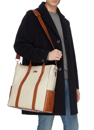 Front View - Click To Enlarge - MÉTIER - 'Mariner' canvas tote bag