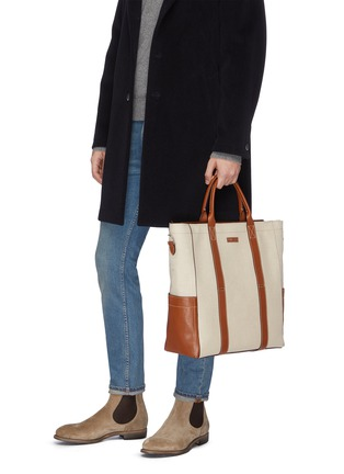 Figure View - Click To Enlarge - MÉTIER - 'Mariner' canvas tote bag