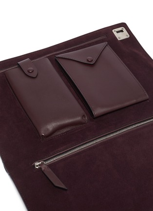 Detail View - Click To Enlarge - METIER - 'Runaway I' buffalo leather envelope pouch