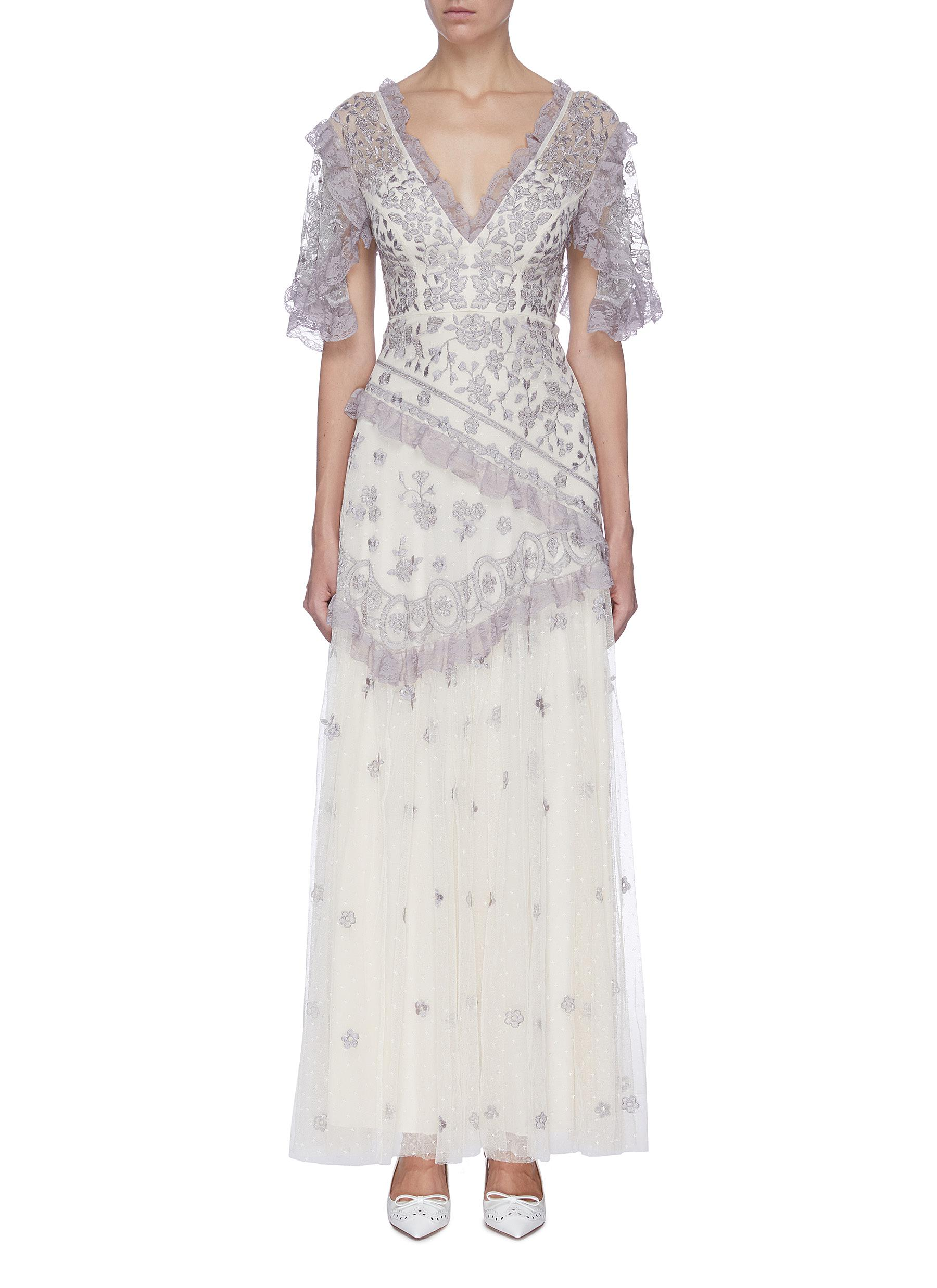 Buy Needle & Thread Dresses 'Elsa' lace embroidered floral sheer tulle gown