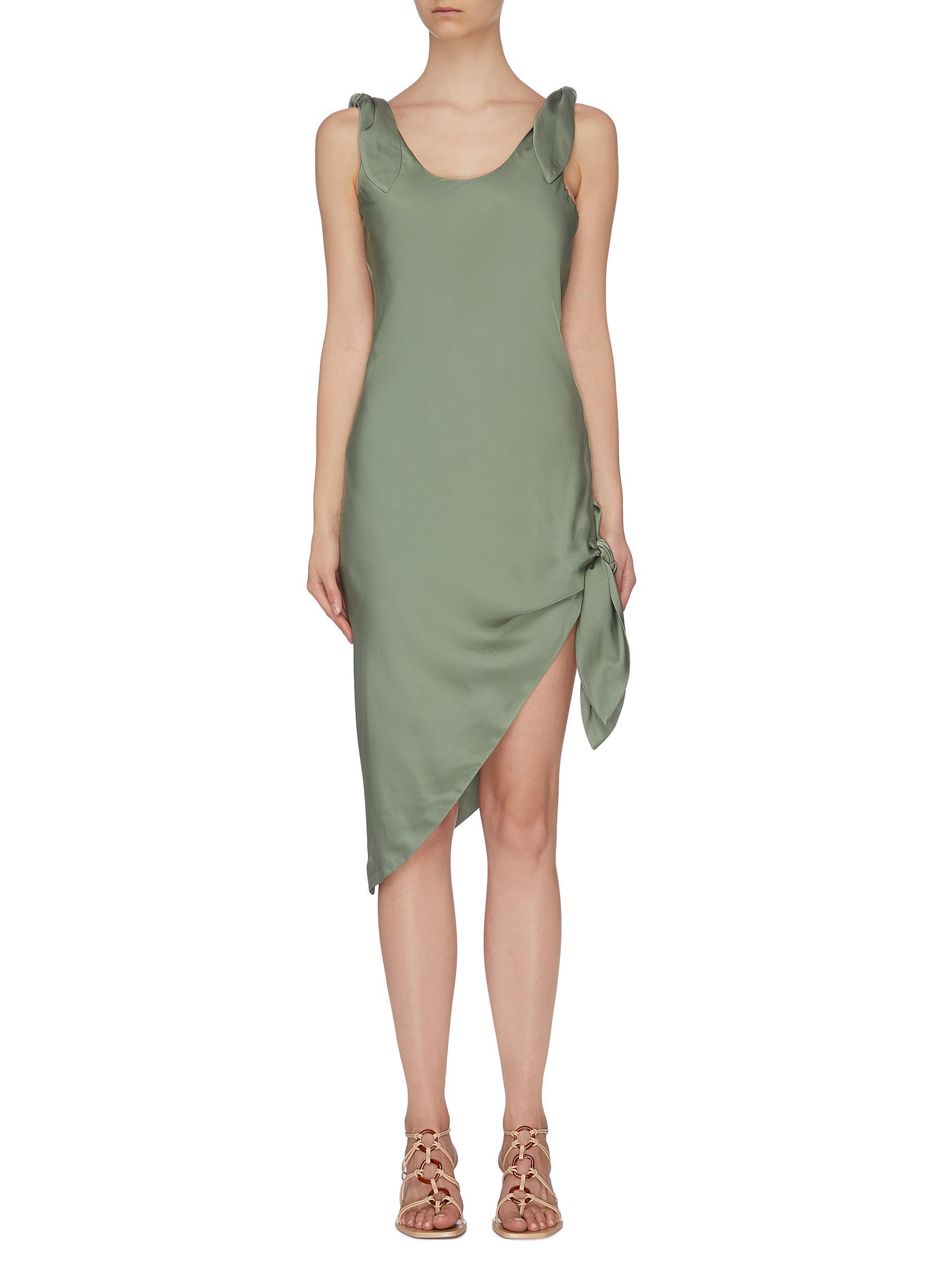 shop Cult Gaia 'Delilah' knot detail midi dress online