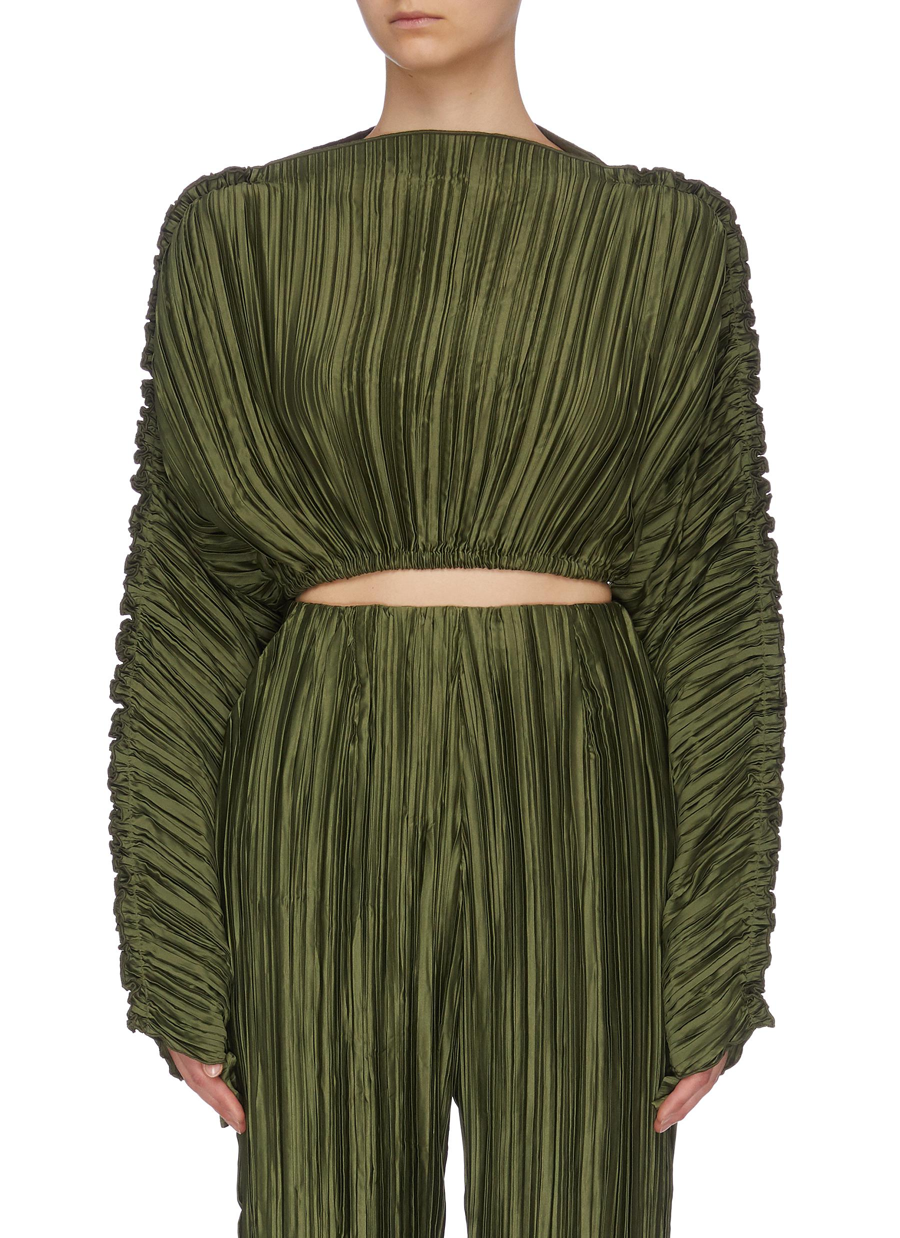 Buy Cult Gaia Tops Puff sleeve pleated top