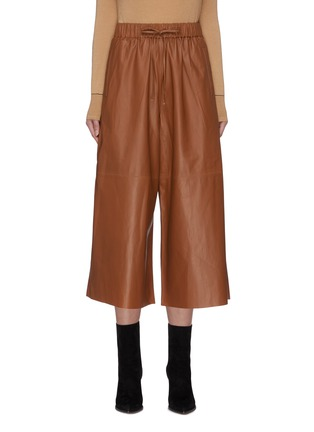 Main View - Click To Enlarge - YVES SALOMON - Lambskin leather wide leg pants