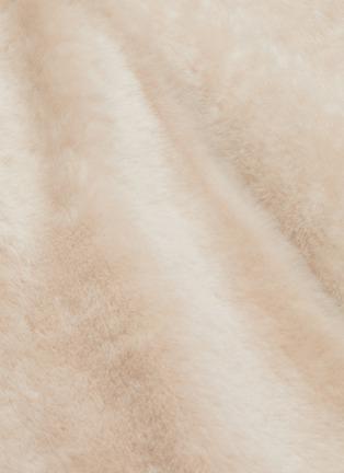 - YVES SALOMON - 'Lacon' lambskin leather fur coat