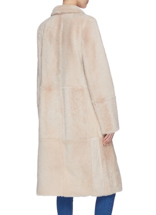 Back View - Click To Enlarge - YVES SALOMON - 'Lacon' lambskin leather fur coat