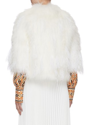 Back View - Click To Enlarge - YVES SALOMON - Feather fur jacket