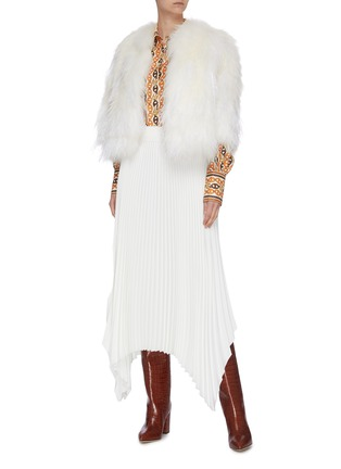 Figure View - Click To Enlarge - YVES SALOMON - Feather fur jacket