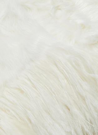 - YVES SALOMON - Feather fur coat
