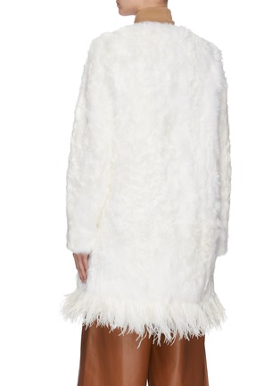 Back View - Click To Enlarge - YVES SALOMON - Feather fur coat