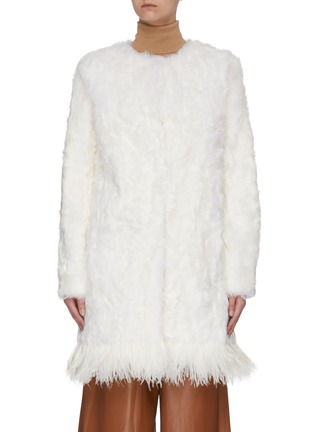 Main View - Click To Enlarge - YVES SALOMON - Feather fur coat