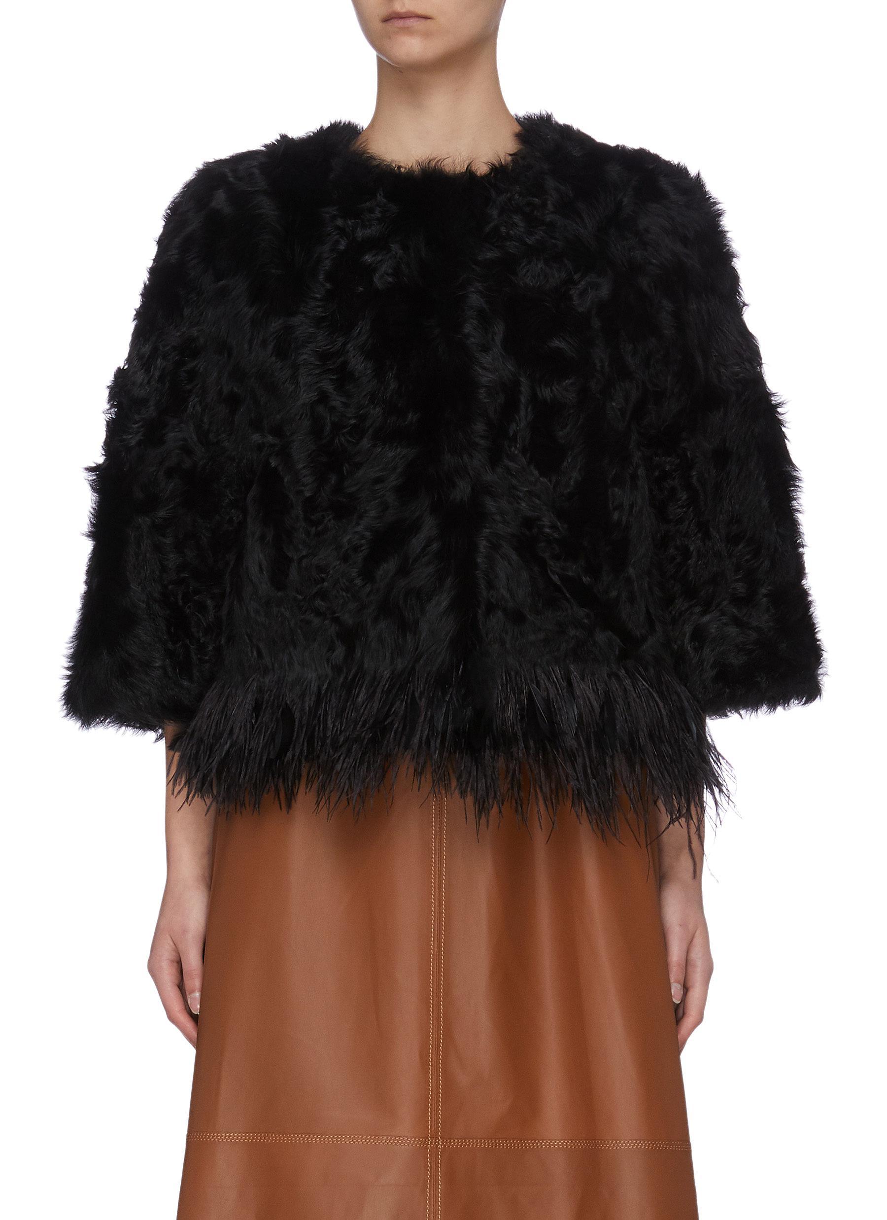 shop Yves Salomon Feather fur jacket online