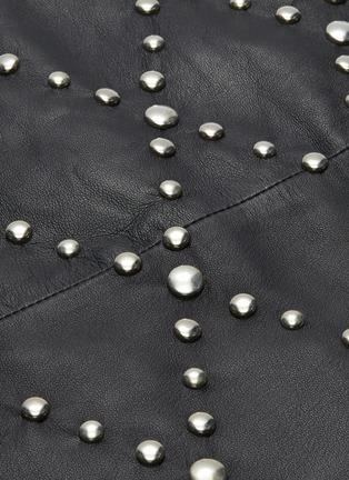 - YVES SALOMON - Stud embellished lambskin leather mini skirt