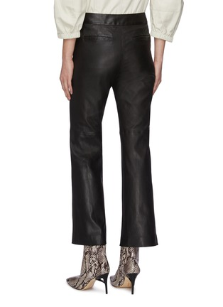 Back View - Click To Enlarge - YVES SALOMON - Flare lambskin leather pants