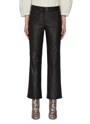 Main View - Click To Enlarge - YVES SALOMON - Flare lambskin leather pants