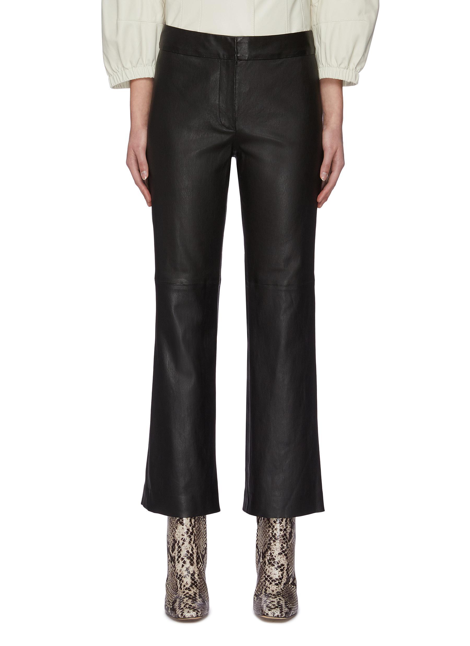 shop Yves Salomon Flare lambskin leather pants online
