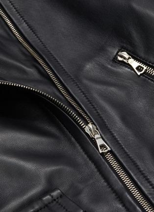 - YVES SALOMON - Lambskin leather biker jacket