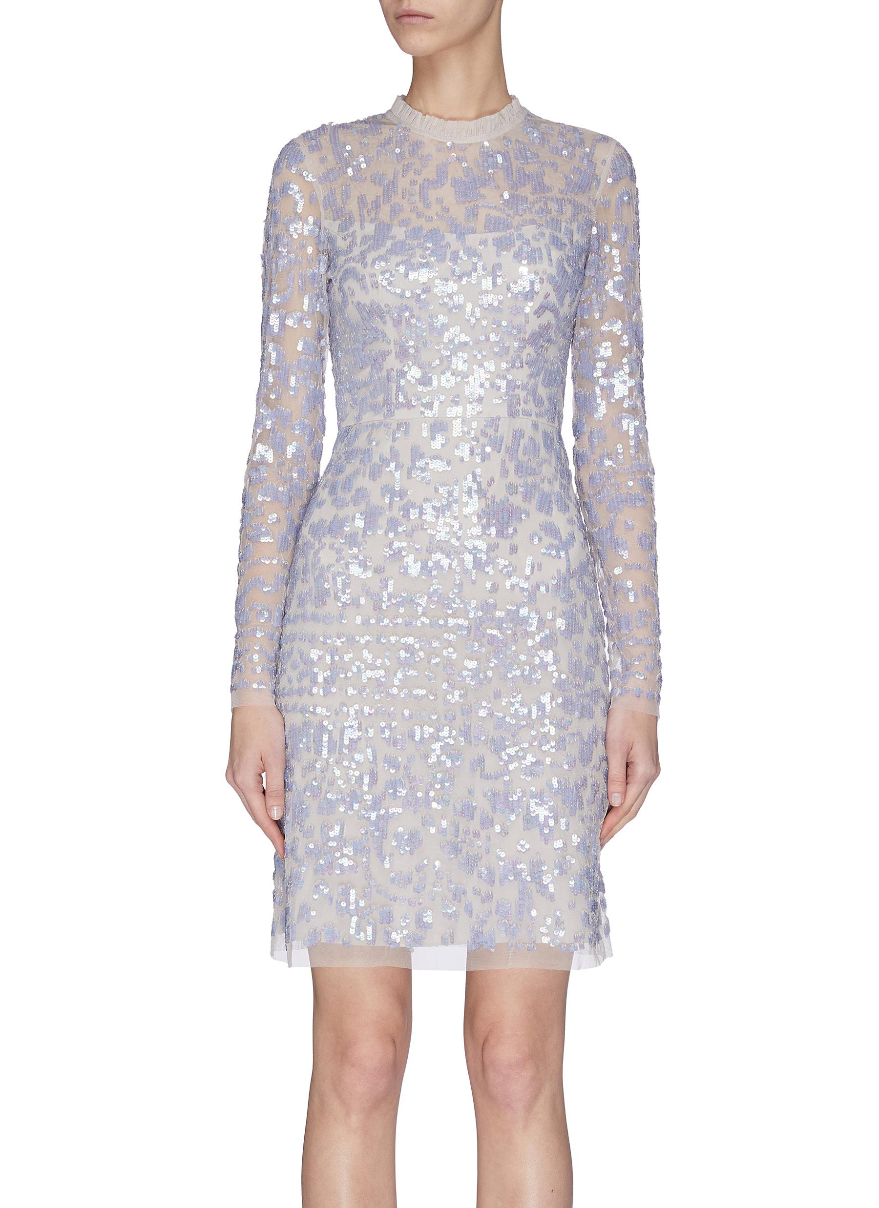 shop Needle & Thread 'Tempest' sequin embroidered dress online
