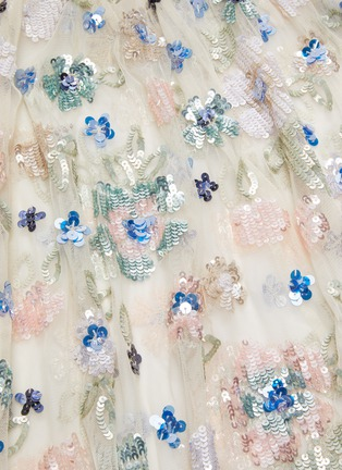 - NEEDLE & THREAD - 'Wildflower' sequin embroidered midaxi cape
