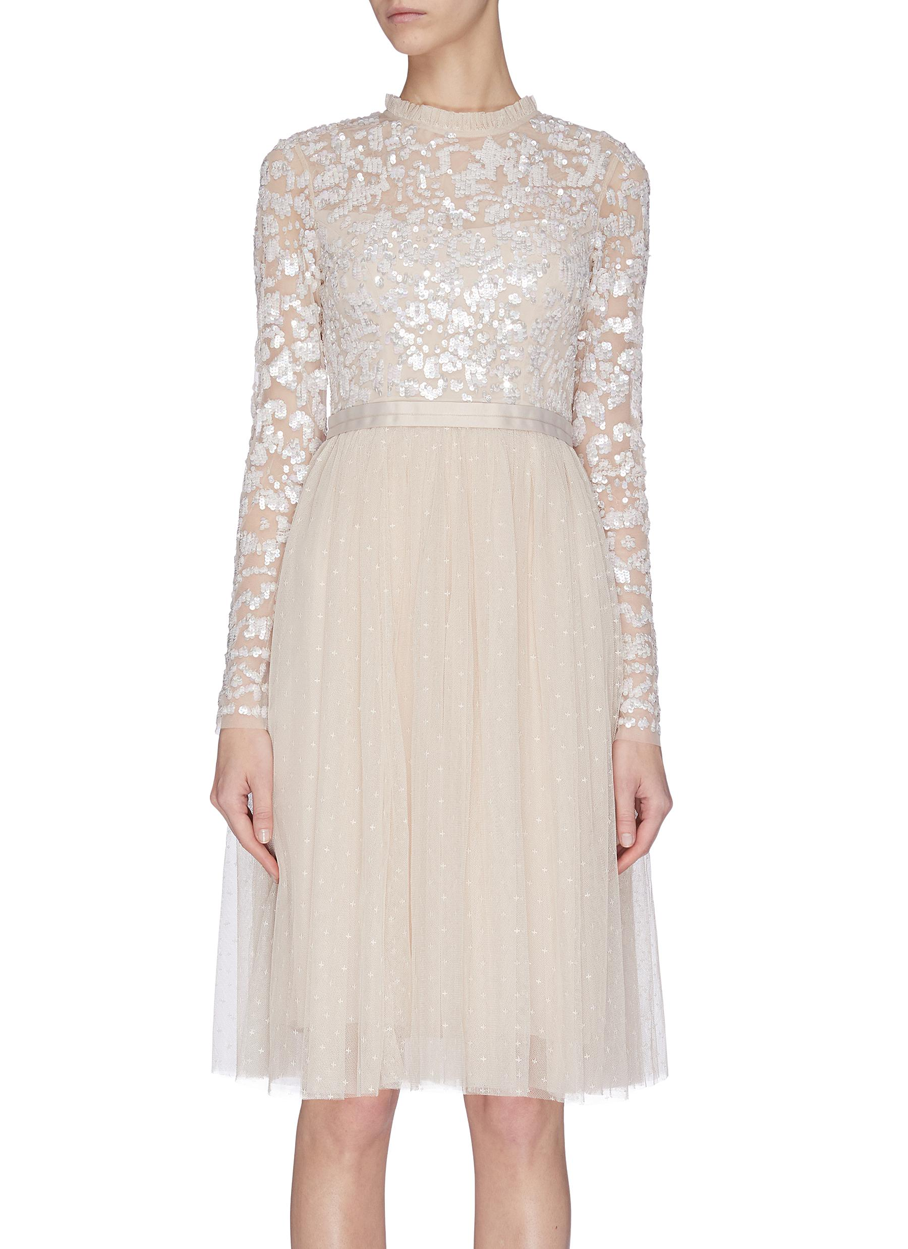 Buy Needle & Thread Dresses 'Tempest' sequin embroidered bodice dress