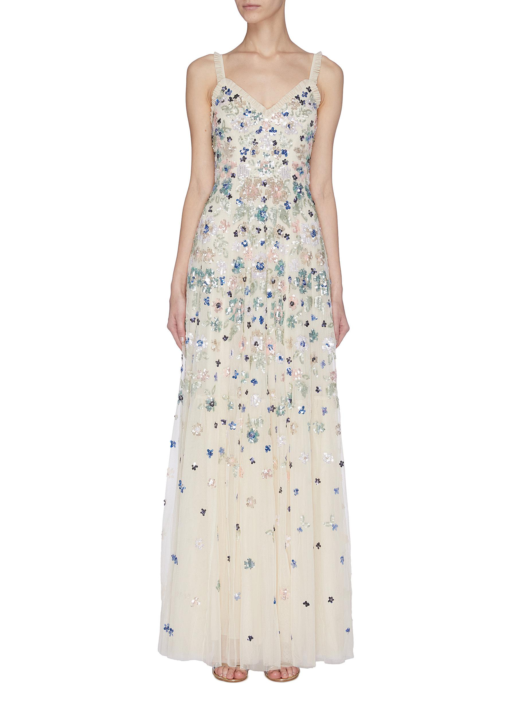 Buy Needle & Thread Dresses 'Wildflower' sequin embroidered gown