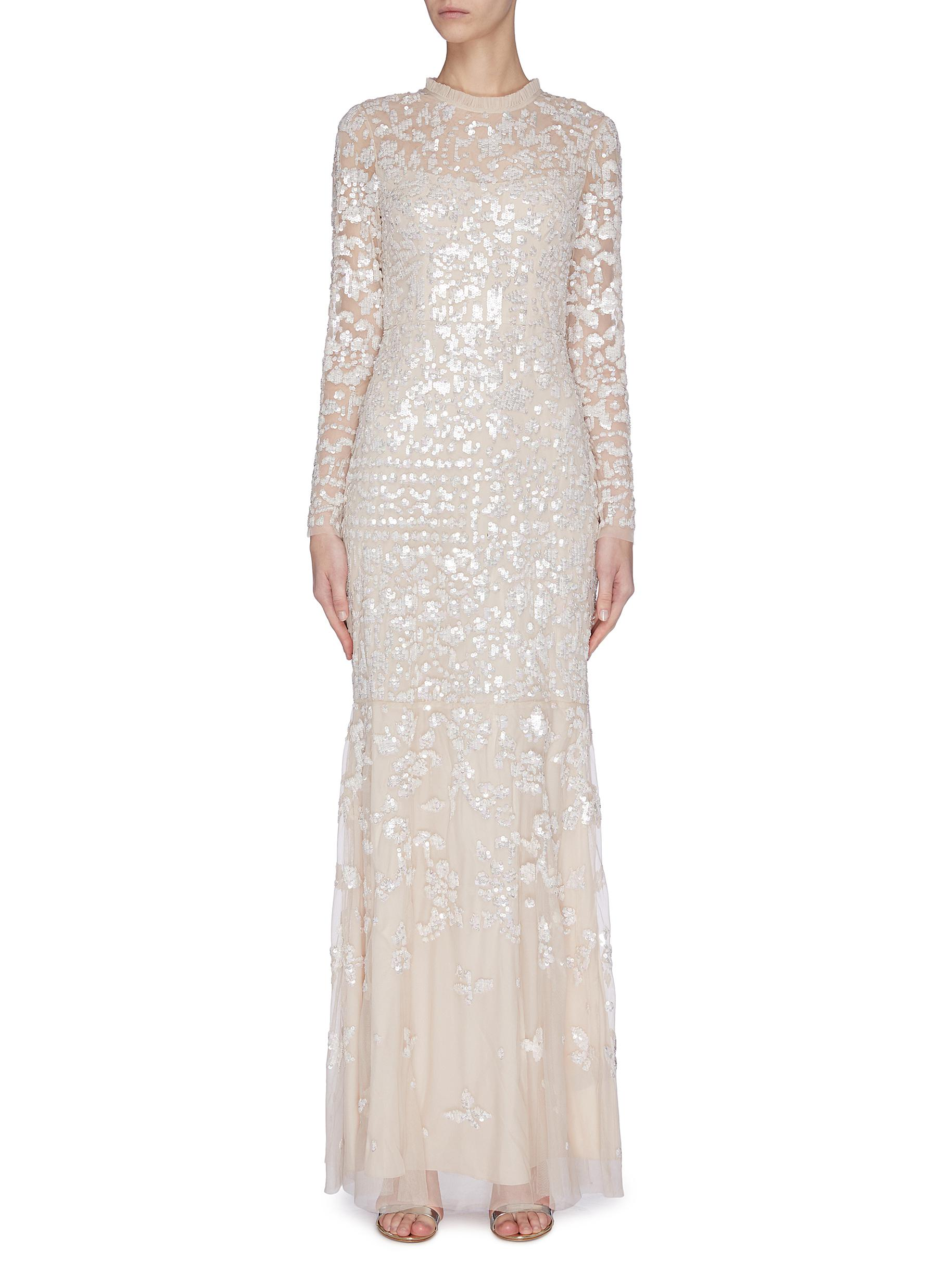 Buy Needle & Thread Dresses 'Tempest' sequin embroidered gown