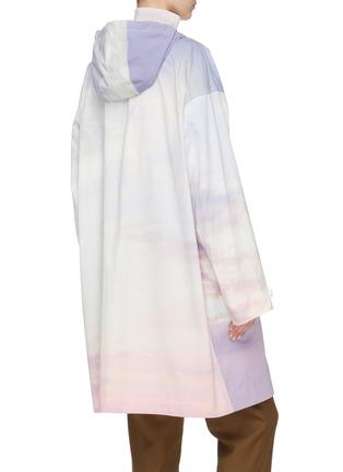 Back View - Click To Enlarge - ARMY BY YVES SALOMON - 'Bachette' sky dye zip windbreaker coat