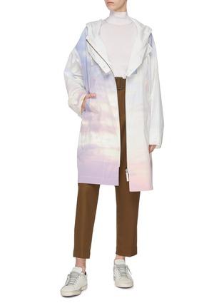 Figure View - Click To Enlarge - ARMY BY YVES SALOMON - 'Bachette' sky dye zip windbreaker coat