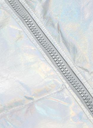 - ARMY BY YVES SALOMON - Metallic lambskin leather puffer vest