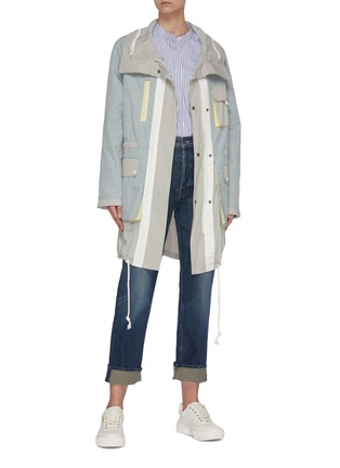 Figure View - Click To Enlarge - ARMY BY YVES SALOMON - Nylon windbreaker parka