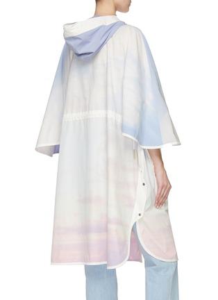 Back View - Click To Enlarge - ARMY BY YVES SALOMON - 'Bachette' sky dye windbreaker coat