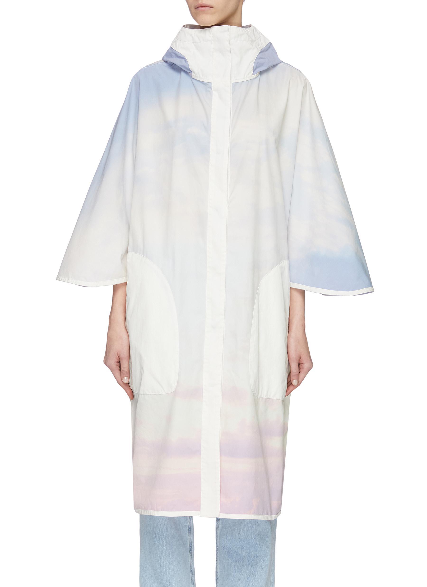 shop Army By Yves Salomon 'Bachette' sky dye windbreaker coat online