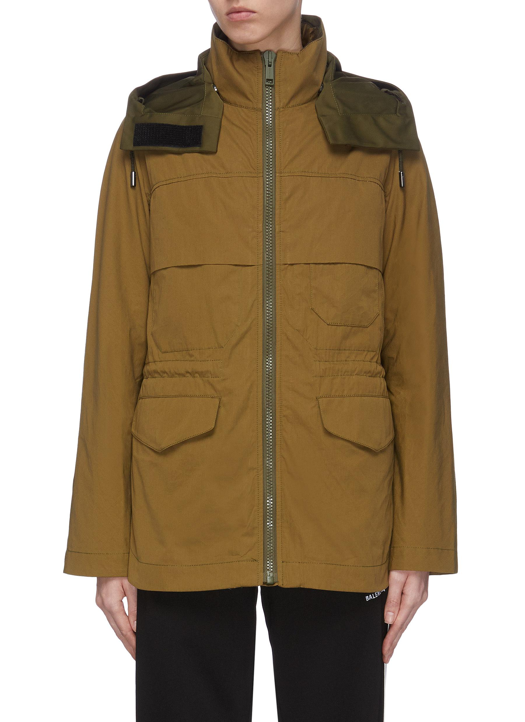 shop Army By Yves Salomon 'Bachette' colourblock nylon jacket online