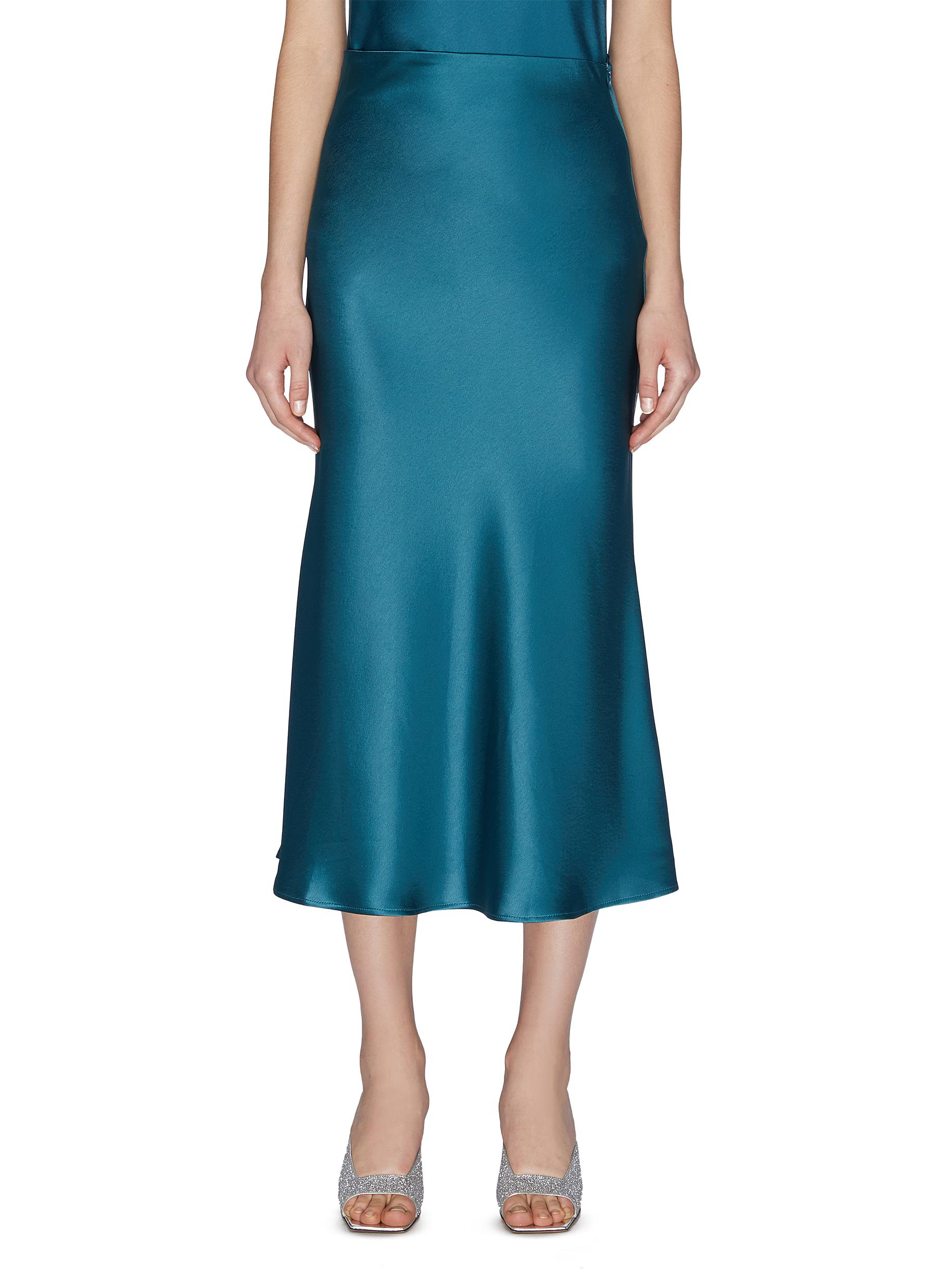 Buy Galvan London Skirts 'Valetta' satin midi skirt