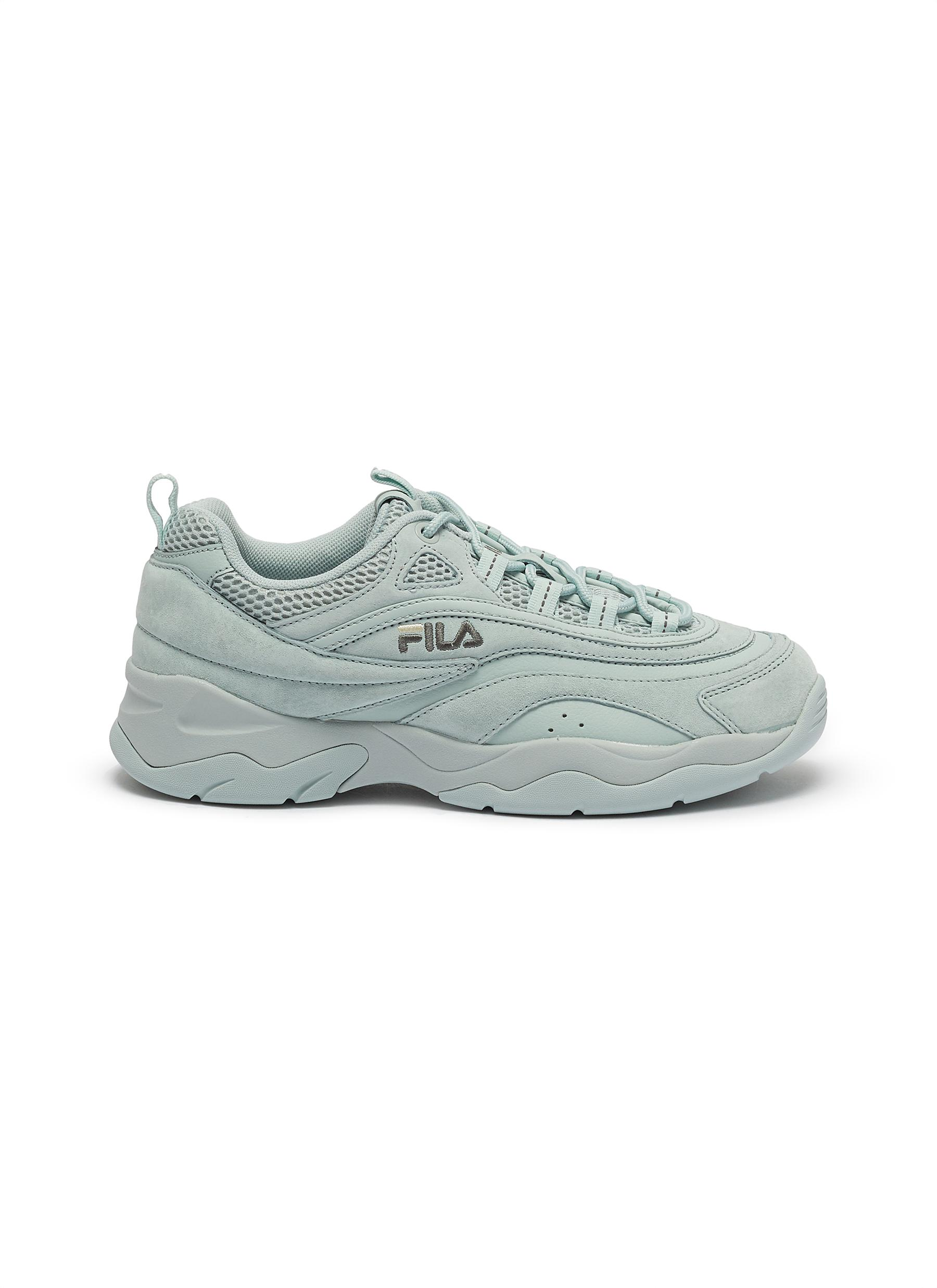 Ray chunky outsole panelled suede sneakers by Fila